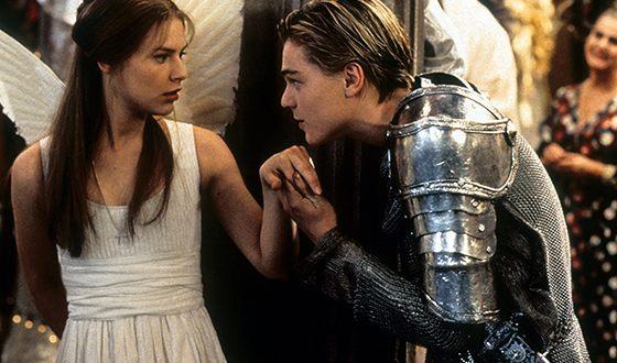 Леонардо Ди Каприо и Клэр Дэйнс в картине «Ромео+ Джульетта»