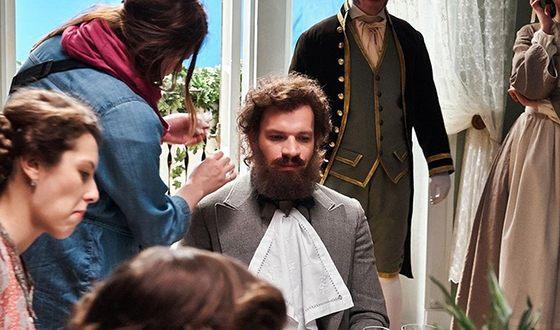Евгений Харитонов на съемках фильма «История одного назначения»