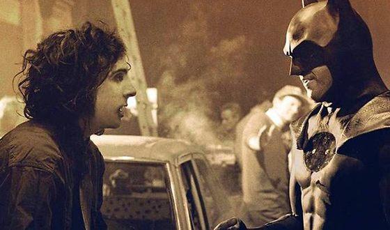 На съемках фильма «Бэтмен»
