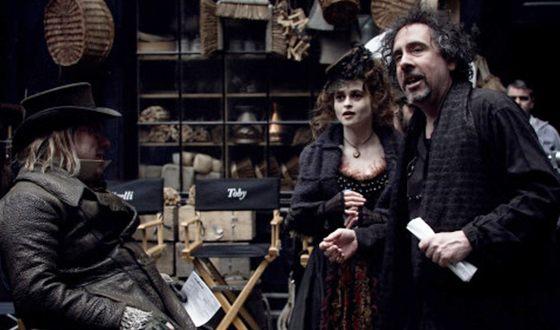 На съемках «Суини Тодда, демона-парикмахера с Флит-стрит»