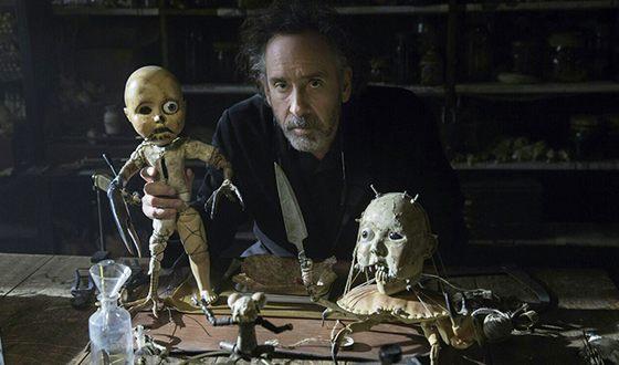 Тим Бёртон на съемках картины «Дом странных детей Мисс Перегрин»