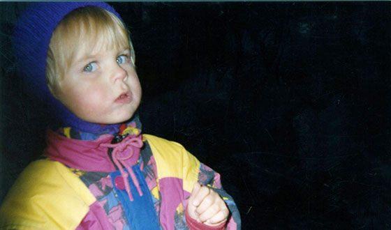 Александра Ревенко в детстве