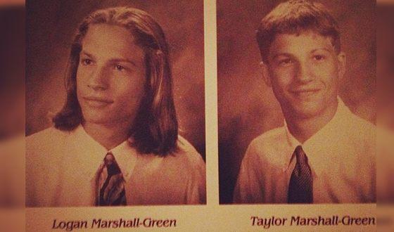 Логан Маршалл-Грин и его брат Тейлор Маршалл-Грин в школе