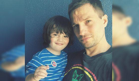 ЛоганМаршалл-Грин с сыном