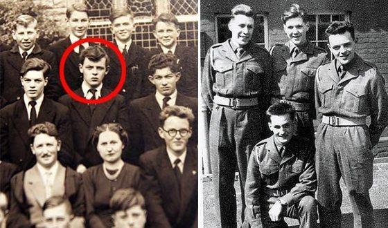 Энтони Хопкинс в школе для мальчиков и в армии (справа фото)