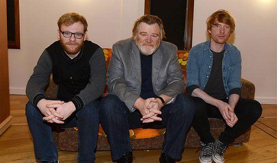 Брендан Глисон с сыновьями актерами