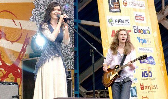 Анна Пингина на фестивале «Дикая мята»