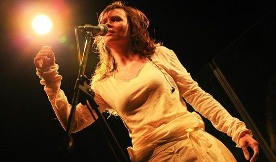 Анна Пингина на презентации альбома «Ахимса»