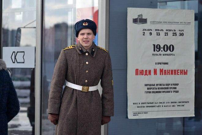 Иван Дубровский на съемках сериала
