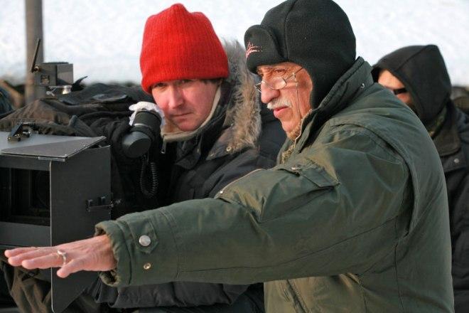 Николай Досталь на съемках фильма