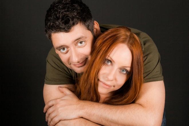 Антон Эльдаров с женой