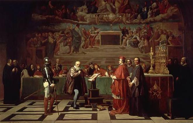 Галилео Галилей перед судом инквизиции