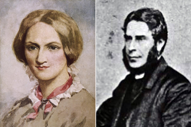 Шарлотта Бронте с мужем Артуром Беллом Николлсом