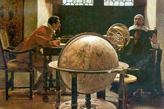 Галилео Галилей обучает Вивиани