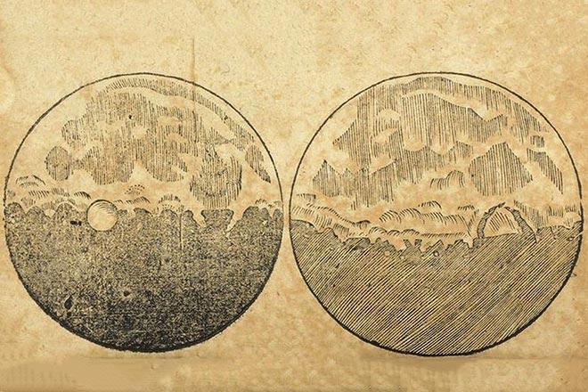 Галилео Галилей составил первую карту Луны
