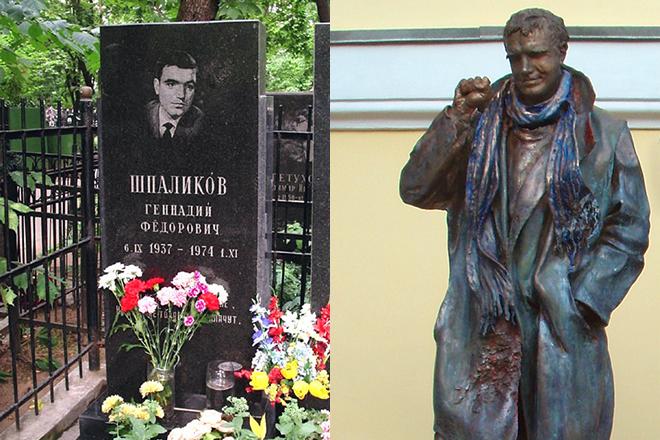 Памятник и могила Геннадия Шпаликова
