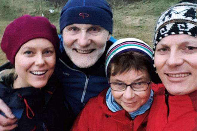 Ингрид Болсай Бердал и ее семья
