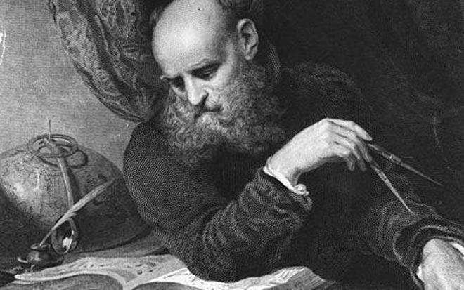 Галилео Галилей изучает теорию Коперника