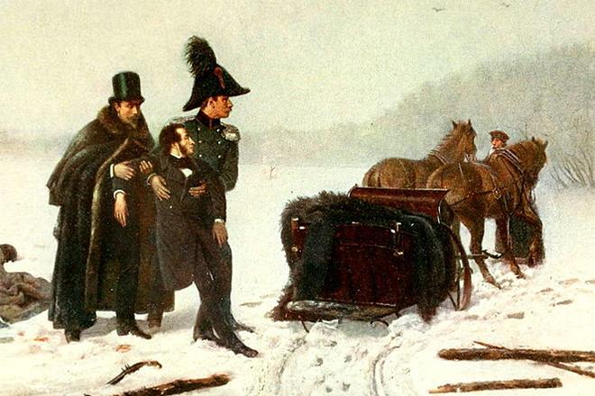 Умирающий А.С.Пушкин
