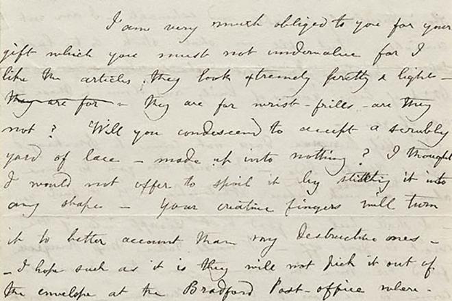 Почерк Шарлотты Бронте