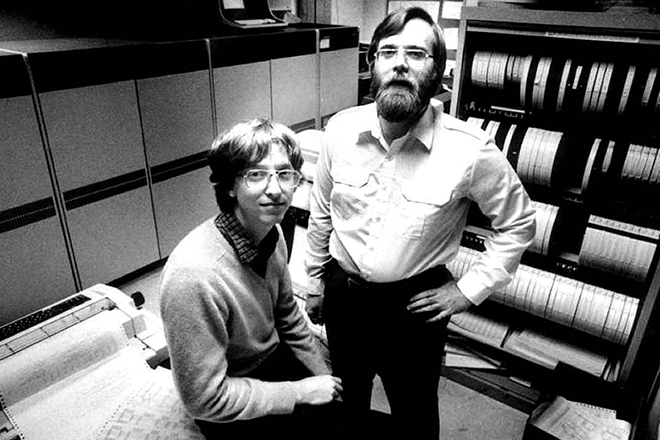 Билл Гейтс и Пол Аллен в молодости