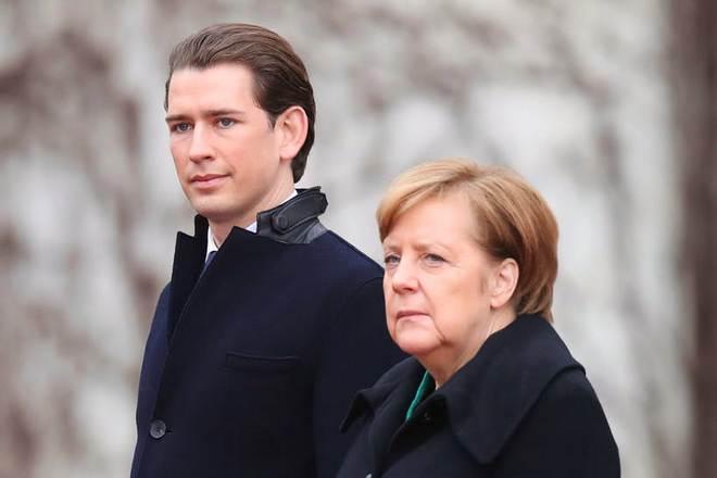 Себастьян Курц и Ангела Меркель