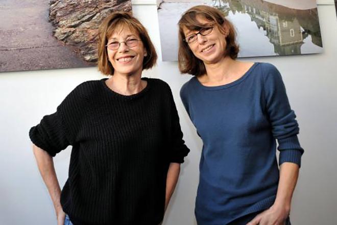 Джейн Биркин и ее дочь Кейт