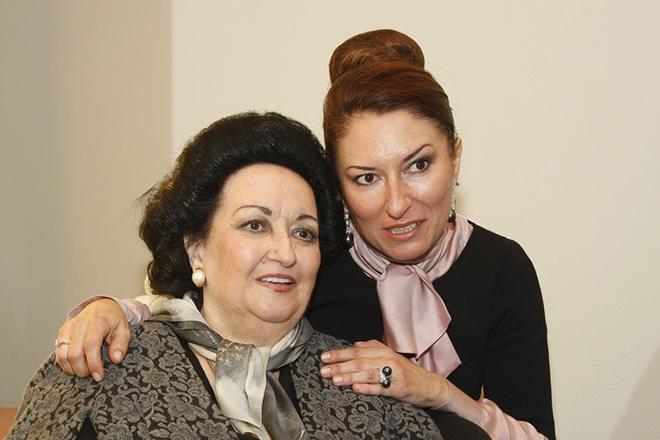Монсеррат Кабалье с дочкой