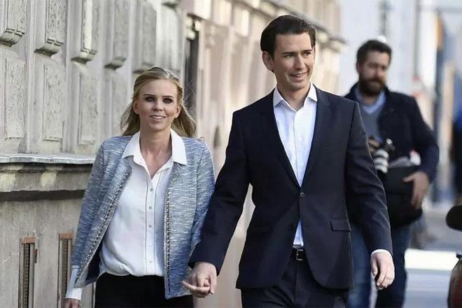 Себастьян Курц и его девушка Сюзанна Тир