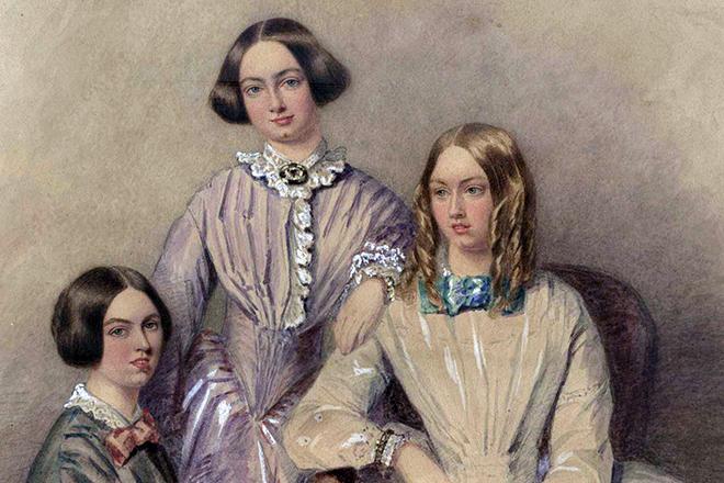 Шарлотта Бронте с сестрами
