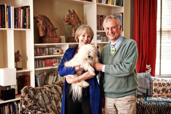 Ричард Докинз и его третья жена Лалла Уорд