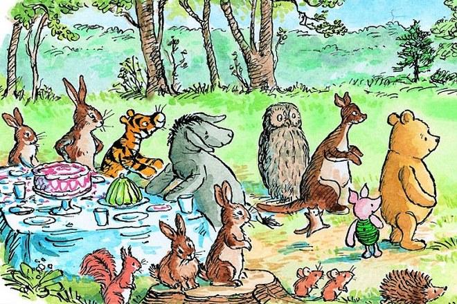 Оригинальная иллюстрация к сказке Алана Милна «Винни-Пух»