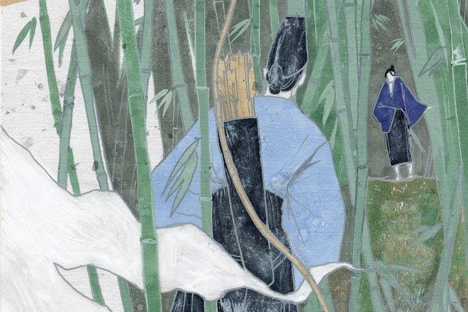 Иллюстрация к рассказу Рюноскэ Акутагавы «В чаще»