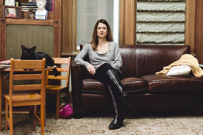 Гиллиан Флинн в домашней обстановке