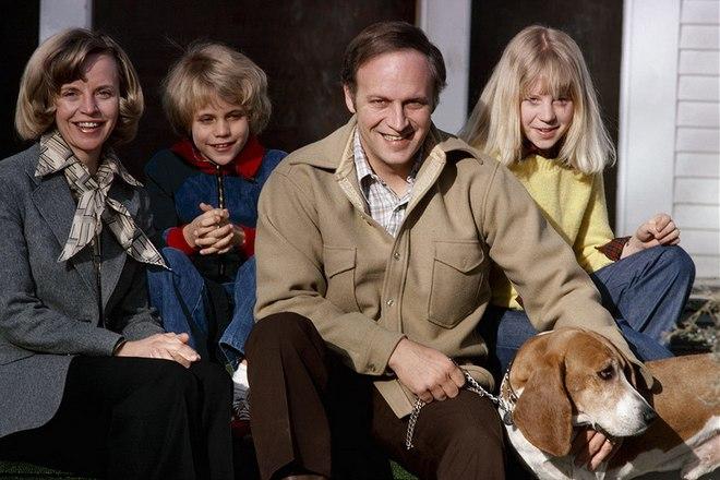 Дик Чейни с семьей