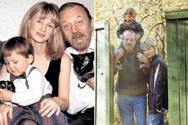 Анатолий Ромашин с женой Юлией и сыном