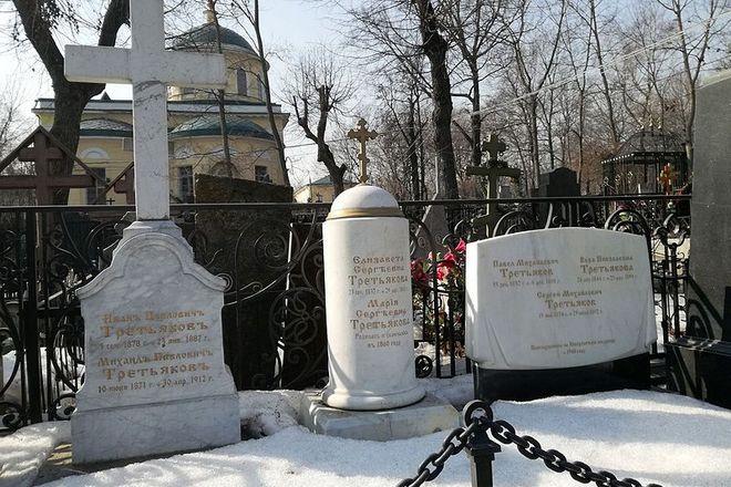 Могила Павла Третьякова