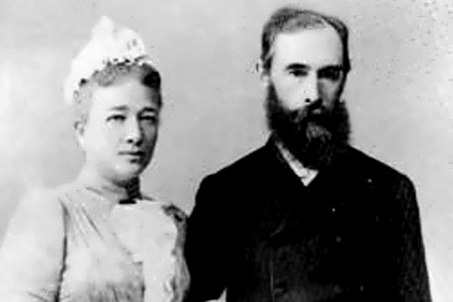 Павел Третьяков и его жена Вера