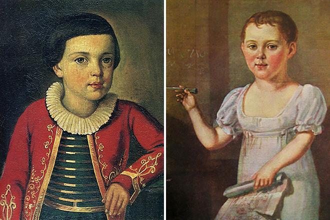Михаил Лермонтов в детстве