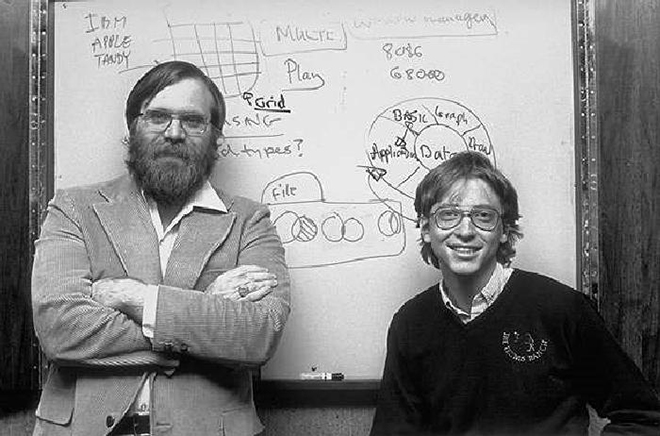 Пол Аллен и Билл Гейтс в молодости