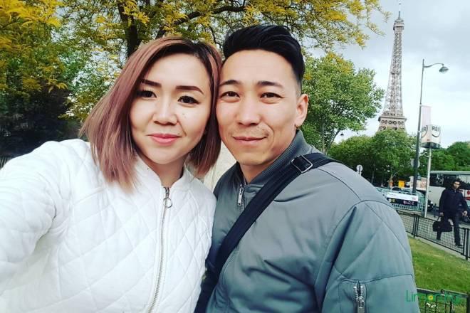 Кайрат Примбердиев с женой