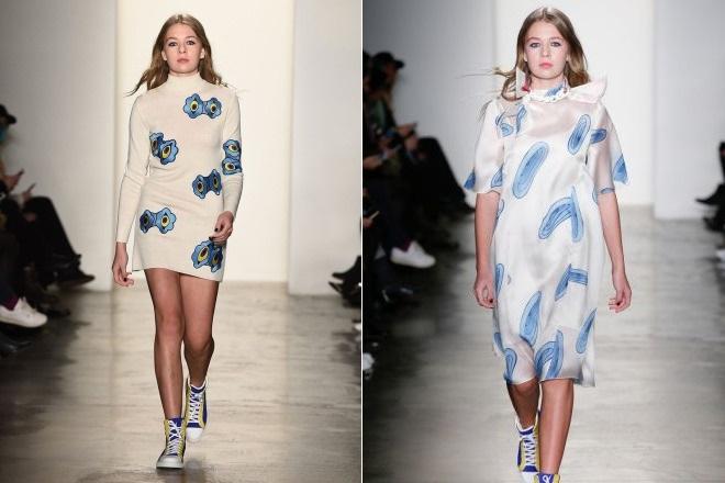 Соня Киперман на Неделе моды в Нью-Йорке