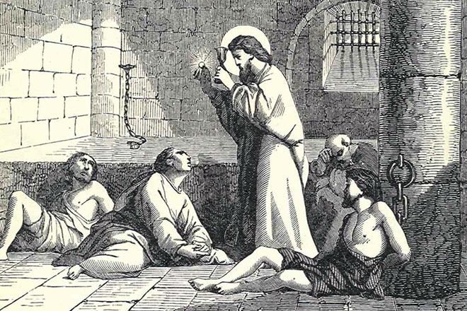 Святой Валентин в тюрьме