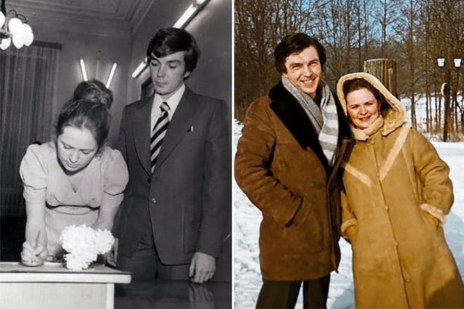 Юрий Николаев с женой в молодости