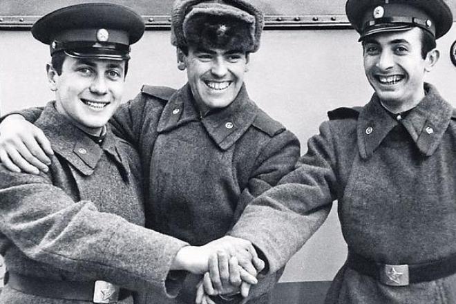Владимир Винокур (слева) в молодости