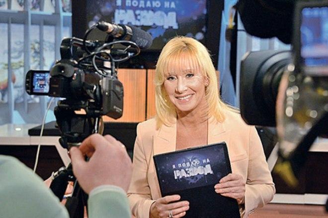 Оксана Пушкина на съемках программы «Я подаю на развод»