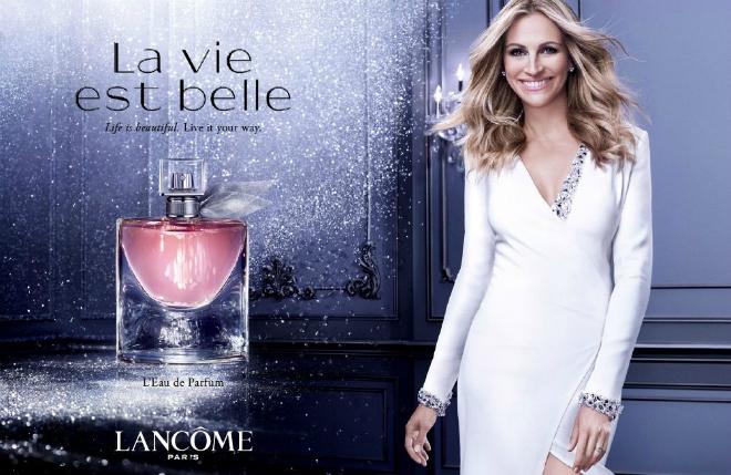 Джулия Робертс в рекламе парфюма La Vie Est Belle
