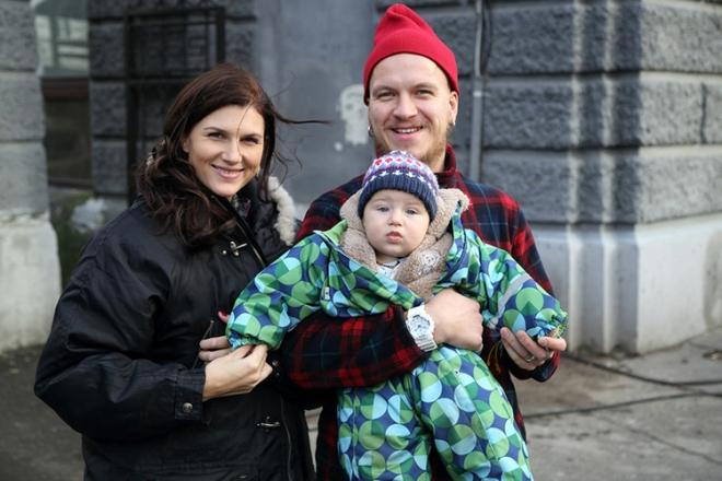 Марьяна Спивак и Антон Кузнецов с сыном
