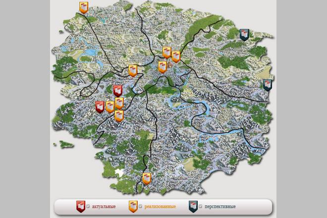 Объекты «Управление экспериментальной застройки микрорайонов» на карте Москвы