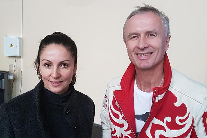 Ирина Жук и Александр Свинин - тренеры Александры Степановой